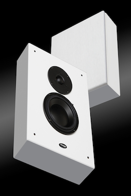 Image LPM One on wall speakers