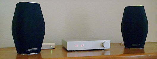 NuForce DDA 100 digital amplifier and Monitor Audio MASS 10 speakers at Totally Wired Ltd