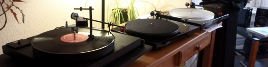 Totally Wired turntable shop display with Well Tempered and Pro_Ject